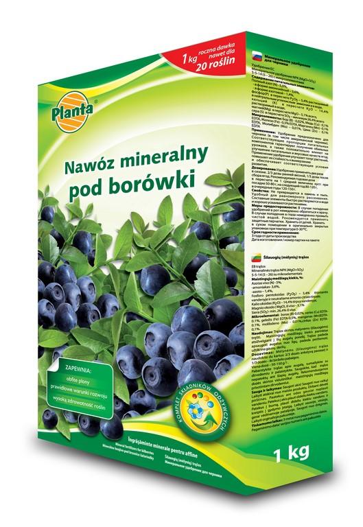 nawóz mineralny pod borówki 1kg Planta