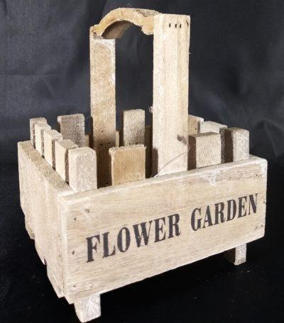 koszyk drewno flower garden